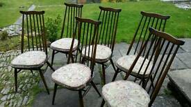 Ercol goldsmith dining chairs x 6