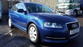 2012 AUDI A3 8P 1.6 TDI DIESEL FREE ROAD TAX NEW MOT