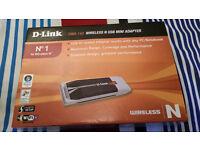 D-Link Wireless-N Mini USB Adapter New