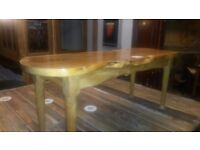 1970's tree section coffee table