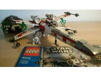 Lego Star Wars X wing and Yoda's hut.
