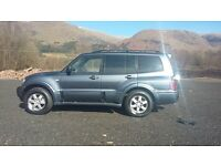 MITSIBISHI SHOGUN WARRIOR 3.2 DID 7 SEATER MANUAL 05 plate ,