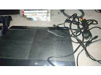 Ps3 super slim with 4 controllers, 8 games