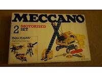 Meccano Motorised Set 2 rare unopened £45