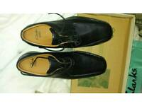 Clarks black shoes size 9.5