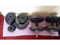 Various Exercise Fitness Weights Dumbells for Sale - Good Condition and Good Quality
