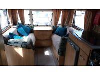 Lunar Quasar 524 fixed double bed 2005 caravan with extras.