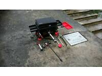 Team Diawa fishing seat box with octoplus legs and accessories