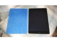 IPad Air 128Gb Space Grey with Blue Apple Screen Cover