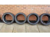 4 tyres on set KUMHO ecsta 2x 225 40 18 2x255 35 18 only 1k mil done
