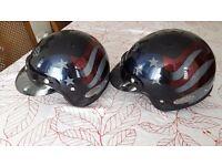 Genuine Harley Davison Helmets sizes one medium , one small