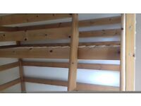 John Lewis solid pine cabin bed.