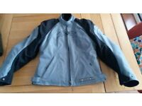 Ladies Ixon stylish Motorcycle Jacket, babyblue and black with removable winterlining and armour