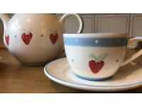 Strawberry tea set for two