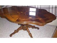 Italian style decorative coffee table