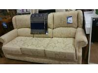 Pale gold 3 seat sofa
