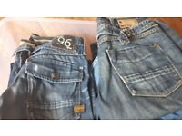 Mens and ladies large designer jeans bundle gc