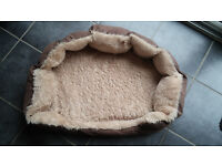 Machine washable dog bed and pet barrier