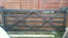Huge wooden gate