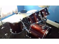 Mapex Tornado 3 Fusion 20 inch Drum Kit in Burgundy PLUS Many Extras