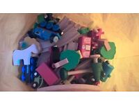 Wooden railway - assorted bag