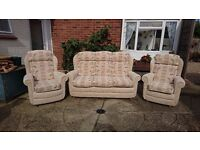 3 piece suite for sale - Immaculate condition - 3 seater sofa & 2 armchairs.
