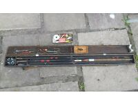 Vintage Fishing Rod and Tackle