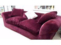 Luxurious, large, velvet Habitat sofa