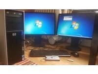 HP - XEON 2.93ghz - 8gbRAM - Quadro 3800 - 1.5TB - 500gb ext drive - Win 7 Pro - 2x NEC monitors
