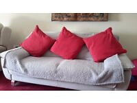 VERY COMFORTABLE 3 SEATER/DOUBLE SOFA BED - LONG TERM USE MATTERESS