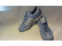 Adidas Samoa Trainers Sneakers Running Shoes Leather Suede Blue Grey UK 5.5