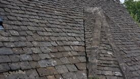 Reclaimed Cotswold Stone Roof Tiles Slates & stone ridges