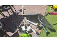 satellite dish`s and motors joblot