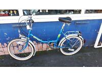 Vintage Metro Folding Bike with Sturmey Archer gears