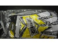wulfsport gloves motocross motox quad enduro adult size medium in yellow