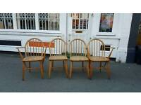 1960s ercol dining chairs retro mid - century