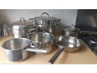 Stainless Steel Saucepans, Steamer, Frying Pan from The Professional Cookware Company