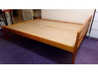 Free Pine standard double bed frame