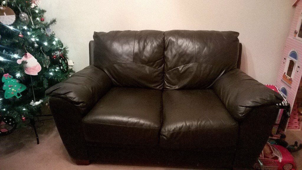 2&3 seater brown sofas £30 collection only Staple Hill