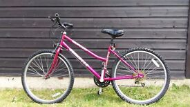 """Small ladies mountain bike. 16"""" frame. Used but decent condition. Daughter outgrown."""