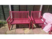 Hardward Wooden Garden Bench & Chairs