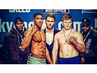 Anthony Joshua vs Alexander Povetkin (2 tickets) - £140 each