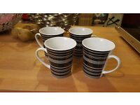 Set of 4 M&S Fine Porcelain mugs - as new