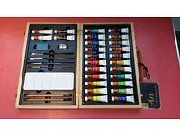 Wooden watercolour art box