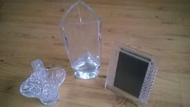 Selection of Crystal, Anysley China, Wedgewood, Book-ends, Ornaments For Sale