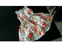 Girls party summer dress size 4 years TU