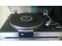 jvc direct drive turntable record player
