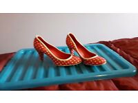 Polka dot Red heeled shoes