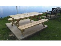 Heavy duty 6' picnic bench