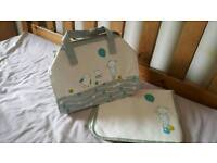 Baby changing bag and mat